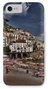Beach Scene In Amalfi On The Amalfi Coast In Italy IPhone Case