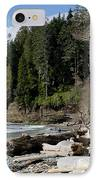 Beached Logs China Beach Vancouver Island Bc IPhone Case by Andy Smy