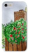 Behind The Fence Sketchbook Project Down My Street IPhone Case by Irina Sztukowski