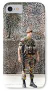 Belgian Soldier On Guard IPhone Case