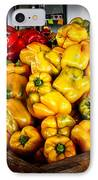 Bell Peppers IPhone Case by Robert Bales