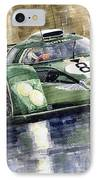 Bentley Prototype Exp Speed 8 Le Mans Racer Car 2001 IPhone Case by Yuriy  Shevchuk