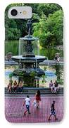 Bethesda Fountain Overlooking Central Park Pond IPhone Case