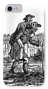 Bewick: Man Carrying Man IPhone Case by Granger