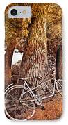 Bicycle Built For Two IPhone Case by Debra and Dave Vanderlaan