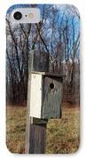Birdhouse On A Pole IPhone Case