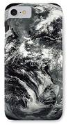 Black And White Image Of Earth IPhone Case