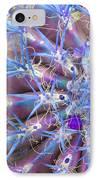 Blue Cactus IPhone Case by Rebecca Margraf