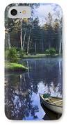 Blue Lake IPhone Case by Debra and Dave Vanderlaan