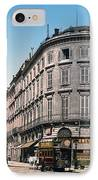 Bordeaux - France - Rue Chapeau Rouge From The Palace Richelieu IPhone Case by International  Images