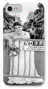 Bride On The Barricade On Bourbon St Nola IPhone Case