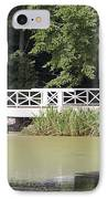 Bridge Over An Algae Covered Pond IPhone Case by Jaak Nilson