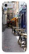 Brussels Side Street Cafe IPhone Case