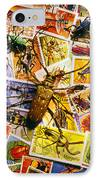 Bugs On Postage Stamps IPhone Case