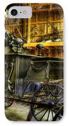 Burial Hearse Wagon Coach - Vintage - Nostalgia - Western - Antique  IPhone Case by Lee Dos Santos