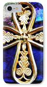 Byzantine Tree Of Life Cross 3 IPhone Case by Sarah Loft