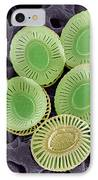 Calcareous Phytoplankton Plates, Sem IPhone Case by Steve Gschmeissner