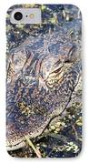 Camouflaged Gator IPhone Case by Carol Groenen