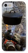 Campfire Cooking IPhone Case by David Lee Thompson