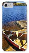 Canoe On Shore IPhone Case