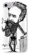 Caricature Of Roentgen And X-rays IPhone Case by