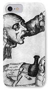 Caricature Of Two Alcoholics, 1773 IPhone Case by Science Source