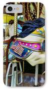 Carousel - Horse - Jumping IPhone Case by Paul Ward