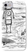 Cartoon: Telephone, 1886 IPhone Case by Granger