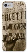 Carving The Name Of Jesse Owens Into The Champions Plinth At The 1936 Summer Olympics In Berlin IPhone Case by American School