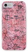 Carvings On Wall IPhone Case by Carlos Caetano