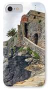 Castello Della Dragonara In Camogli IPhone Case by Joana Kruse