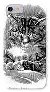 Cat's Whiskers, Conceptual Artwork IPhone Case by Bill Sanderson