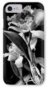 Cattleya - Bw IPhone Case by Christopher Holmes