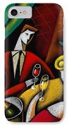 Champagne And Love IPhone Case by Leon Zernitsky