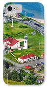 Chatham Lighthouse Cape Cod Massachusetts IPhone Case by Matt Suess