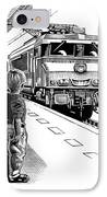 Child Train Safety, Artwork IPhone Case by Bill Sanderson