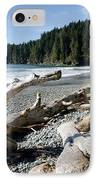 China Driftwood China Beach Juan De Fuca Provincial Park Bc IPhone Case by Andy Smy