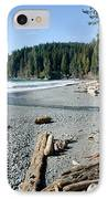 China Wide China Beach Juan De Fuca Provincial Park Vancouver Island Bc Canada IPhone Case by Andy Smy