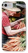 Choosing Carrots IPhone Case by Norma Warden