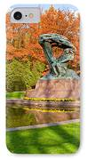 Chopin Monument In The Lazienki Park IPhone Case by Artur Bogacki