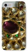 Close Up Of The Gold And Diamond Setting Of A Large Necklace IPhone Case by Ashish Agarwal