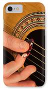 Color Guitar Picking IPhone Case by Michael Waters