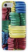 Colorful Clothes Hangers IPhone Case by Skip Nall