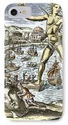 Colossus Of Rhodes Statue IPhone Case by Sheila Terry