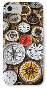 Compases And Pocket Watches  IPhone Case by Garry Gay