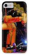 Computer-controlled Electric Arc-welding Robot IPhone Case by David Parker, 600 Group Fanuc