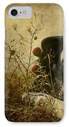 Conversation Dirt Road IPhone Case by Empty Wall