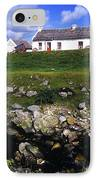 Cottage On Achill Island, County Mayo IPhone Case by The Irish Image Collection