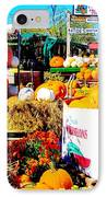 Country Road Farm Stand IPhone Case by Susan Carella