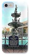 Court Square Fountain IPhone Case by Carol Groenen